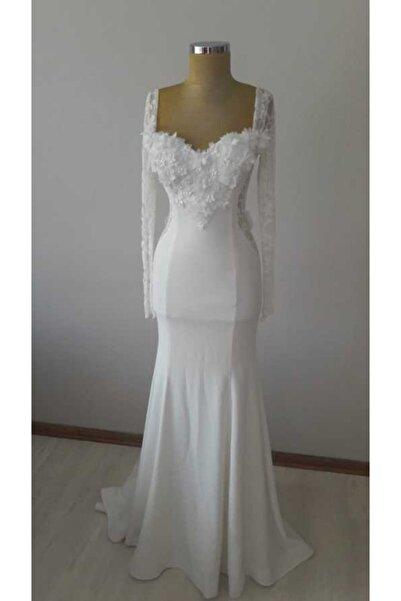 ZELİZA MODA EVİ Kadın Beyaz Nikah Elbisesi