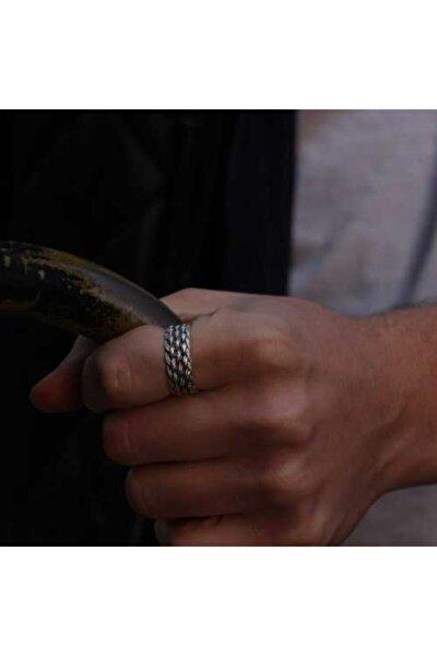Zuk Collection Antik Gümüş Kaplama Ayarlanabilir Yüzük