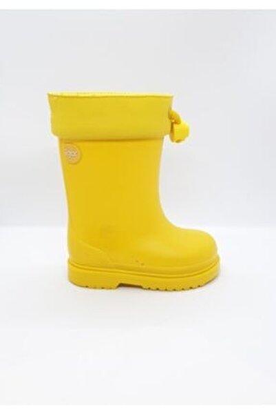 Çocuk Sarı Chufo Sarı Su Geçirmez Yağmur Çizmesi