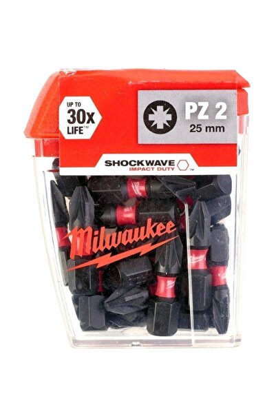 Milwaukee Vidalama Bits Ucu (25'li Paket) Pz2 (b) 25mm