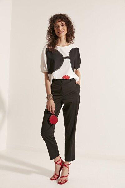 Say Kadın Siyah Cepleri Taşlı Pantolon