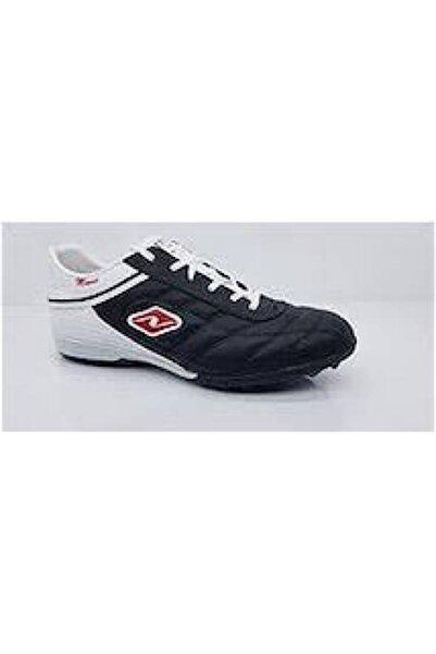 Lion Erkek Siyah Beyaz Bağıcıklı  Halı Saha Ayakkabısı