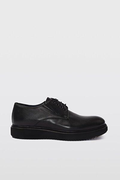 Hotiç Hakiki Deri Siyah Erkek Casual Ayakkabı 02AYH196580A100