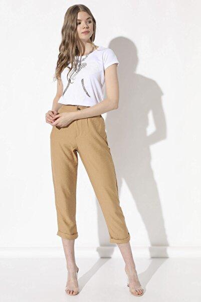 Arma Life Kadın Camel Duble Paça Pantolon