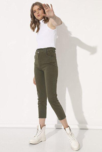 Arma Life Kadın Haki Beli Lastikli Pantolon