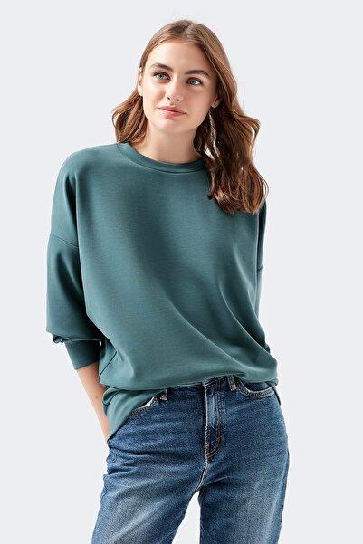Mavi Yeşil Sweatshirt Kadın 168837-28316