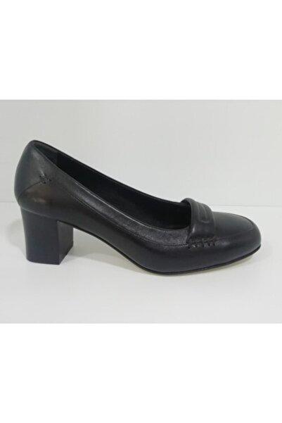 Sedef Kadın Siyah Topuklu  Ayakkabı