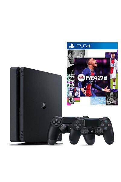 Sony Playstation 4 Slim 500 GB + 2. PS4 Kol + PS4 Fifa 2021