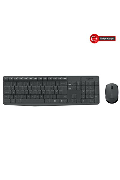 logitech Logıtech Mk235 Klavye+ Mouse Kablosuz (920-007925)