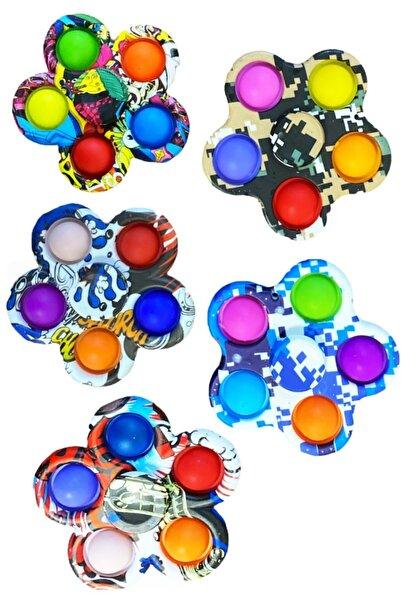 Mofy Baby Pop It Push Bubble Stres Çarkı Duyusal Renkli Fidget Duyusal Oyuncak Renkli