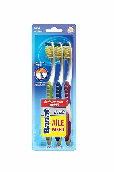 Banat 3'lü Diş Fırçası Seti - Aile Paketi