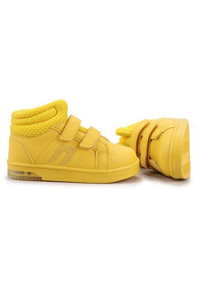Potincim Kids Pkmn Boğazlı Cırtlı Işıklı Kız/erkek Çocuk Spor Bot Ayakkabı Sarı
