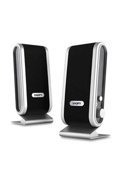 Snopy SN-820 2.0 Siyah Gümüş Lcd İnce Tasarım USB Speaker