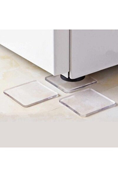 rennway 4 Adet Silikon Şeffaf Koltuk Mobilya Masa Beyaz Eşya Yazıcı Koruyucu Kaydırmaz Dayanıklı Pedler