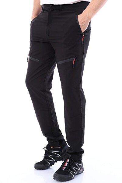 GHASSY CO. Erkek Tactical Ayarlanabilir Paçalı 5 Cepli Yazlık Paraşüt Siyah Outdoor Pantolon