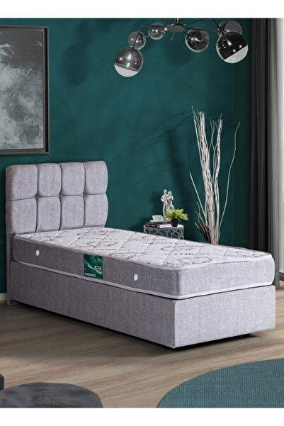 Setay Berlin Tek Kişilik Baza Başlık Comfort Yatak Seti - Açık Gri