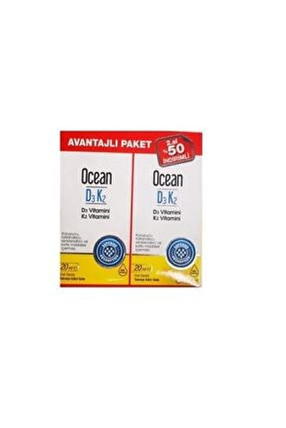 Ocean Vitamin D3k2 Damla 20 Ml 2'li Avantaj Paket