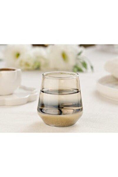Lydia Cam 4'lü Kahveyanı Su Bardağı 115 Ml Gold