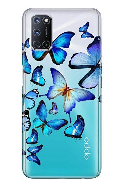 Oppo A72 Pure Modern Desenli Silikon Kılıf 2d Kelebekler