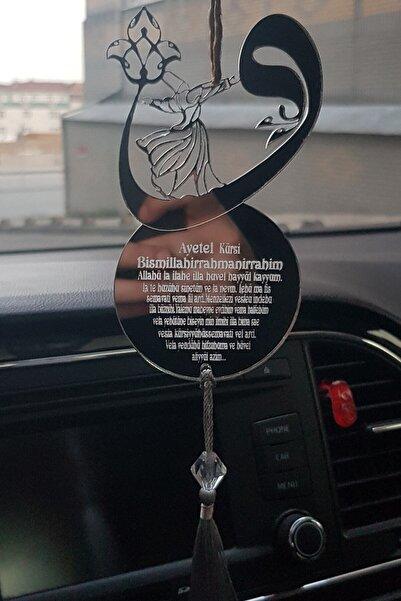 Aker Hediyelik Pleksi Araba Süsü Mevlana Figürlü Vav Dikiz Aynası Süsü
