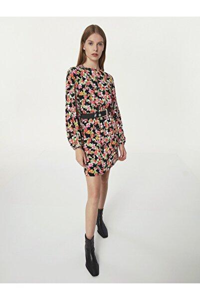 Twist Çiçek Desen Elbise