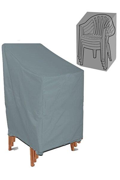CoverPlus Bahçe Sandalyesi Koruma Örtüsü Sandalye Kılıfı Su Geçirmez - Gri