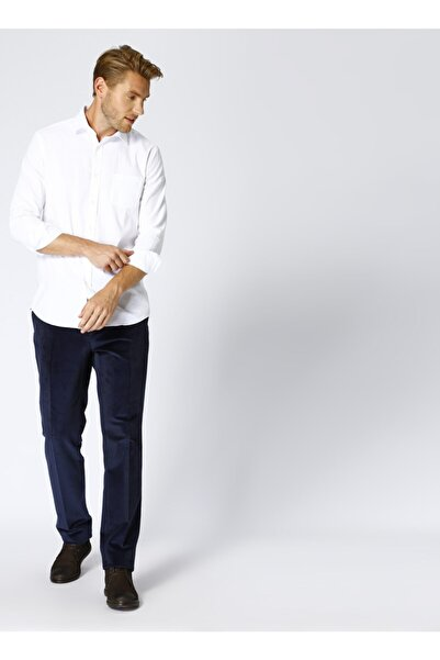 Cotton Bar Erkek Lacivert Klasik Pantolon