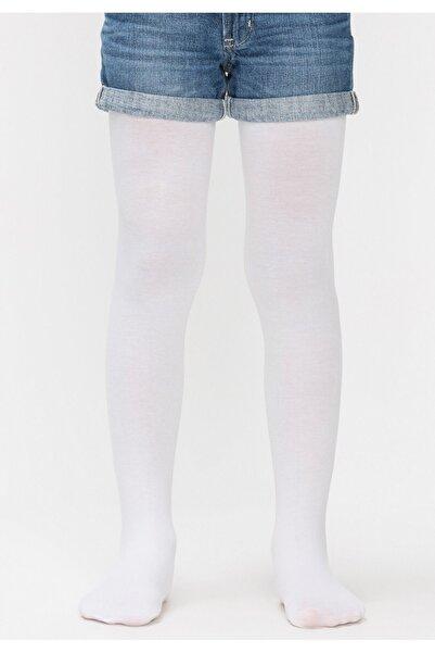 Penti Çocuk Beyaz Ekstra Koton 90 Denye Külotlu Çorap