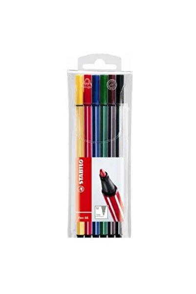 Stabilo Pen 68 1 Mm Keçe Uçlu Kalem 6 Renk