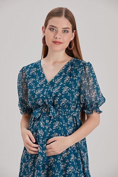 Entarim Hamile Şifon Elbise Ee0033