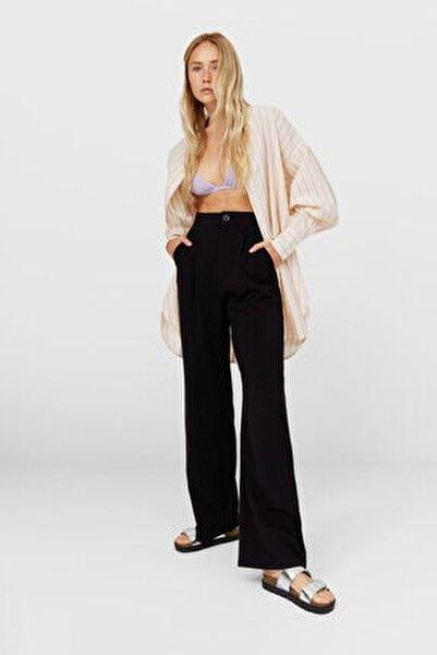 Kadın Siyah Straight Fit Pantolon 04562692