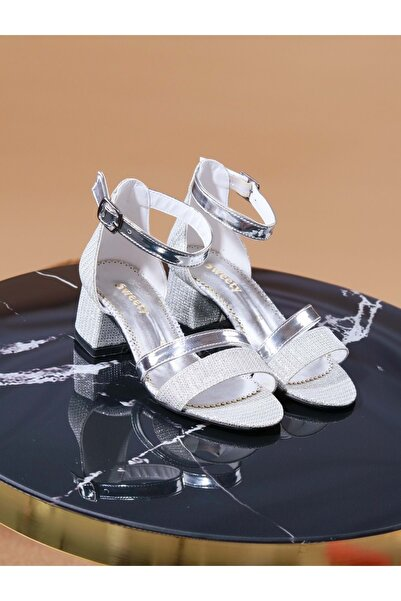 Kidessa 998 Kız Çocuk Kalın Topuklu Ayakkabı