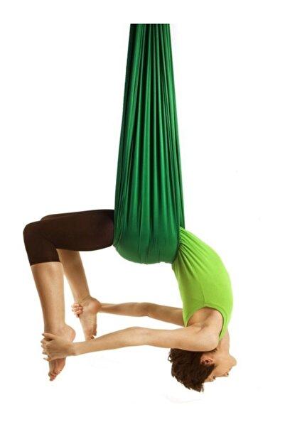 Bundera Fly Hamağı Yeşil Tavana Askılı Yer Çekimsiz Hava Akrobasi Egzersiz Denge Spor Aleti Yoga Salıncağı