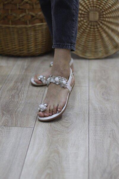 Guja Kadın Taşlı Parmak Arası Lastikli Sandalet