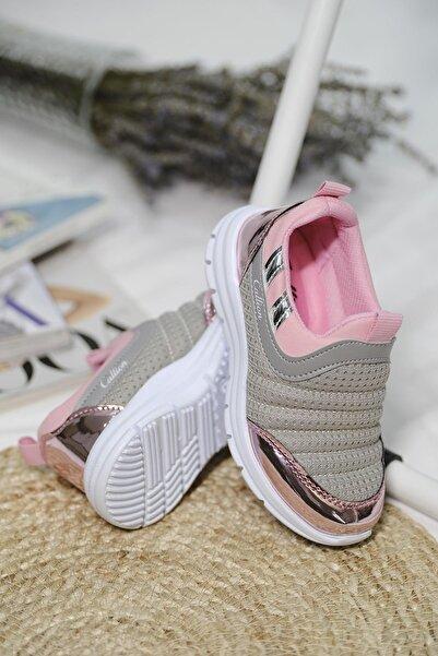 Oksit Calli Tabitha Bağcıksız File Detaylı Çocuk Sneaker