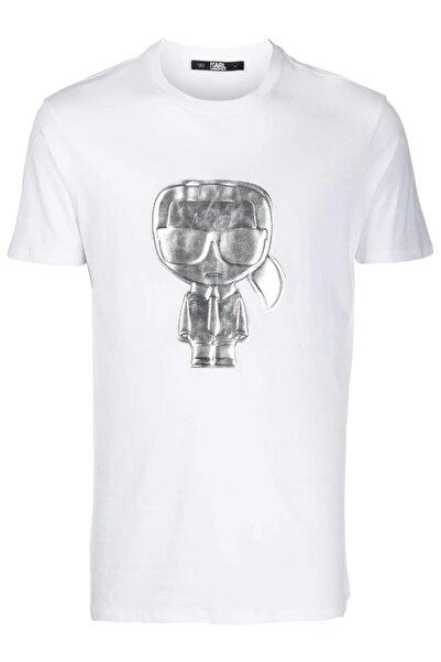Karl Lagerfeld 3d Logo Işleme Beyaz T-shirt