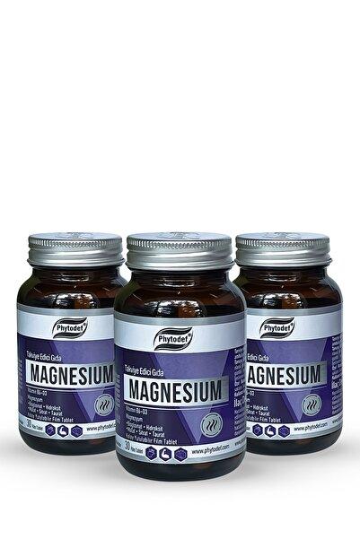 Phytodef Magnesium Vitamin B6 + D3 - 30 Tablet X 3 Adet