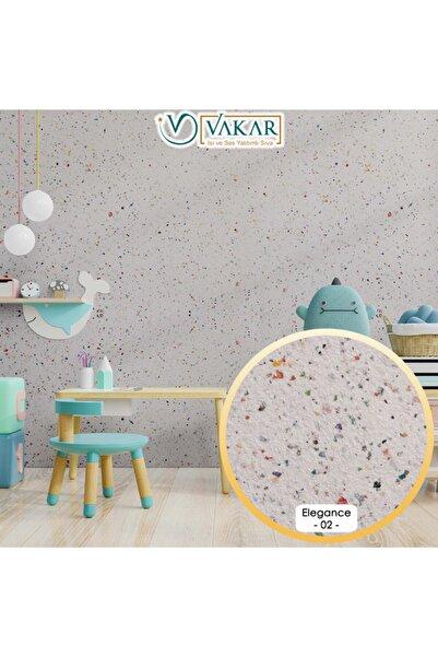 Vakar Isı Ve Ses Yalıtımlı Canlı | Ipek | Dekoratif Sıva Elegance-08 | Beyaz Zemin 10 Farklı Renk