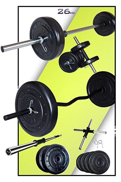 Fitset 28 kg Z Barlı Halter Seti Ve Dambıl Seti Ağırlık Fitness Seti