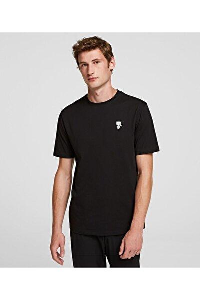 Karl Lagerfeld Silver Chest Logo Baskı T-shirt