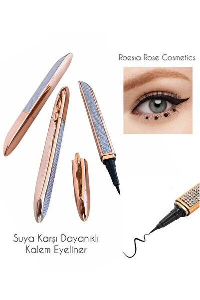 AİLY COSMETİCS Rose Lüks Diamond Model Kalem Eyeliner & Diamond Liquid Waterproof Eyeliner