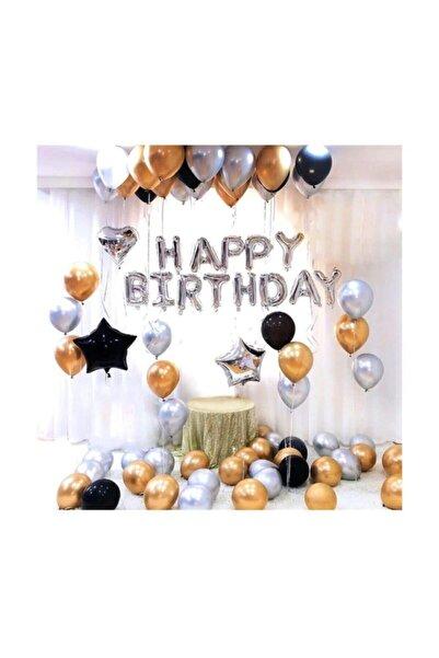 BalonEvi Plus Doğum Günü Balonu Kombini Gümüş Kb1252