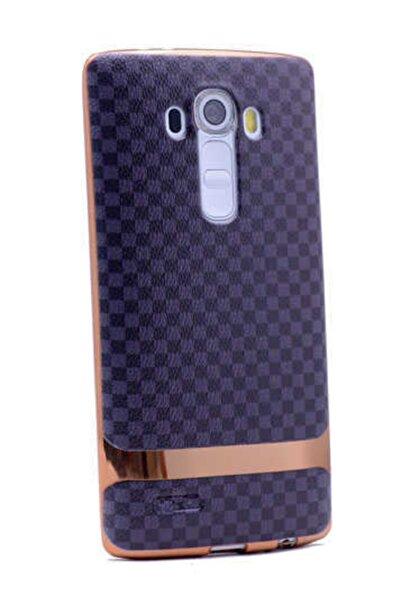 LG G3 Uyumlu    Kılıf Tam Koruma Deri Lazer Kaplama Silikon