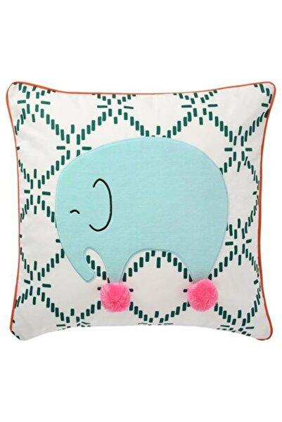 IKEA Çocuk Odası Minder-yastık-kırlent Fil Desen Meridyendukkan 50x50 Cm Yatak Tekstili-yumuşak