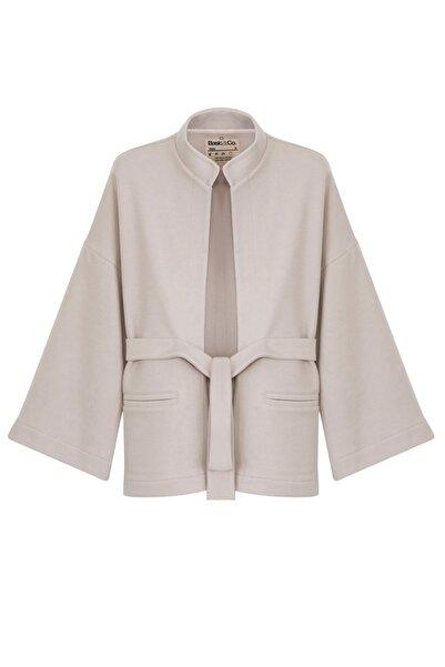 BASIC&CO Zuzu Bej Kimono Ceket - Modal