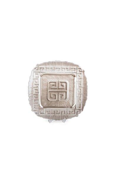 BİEV Versace Kare Supla Gümüş 34 Cm
