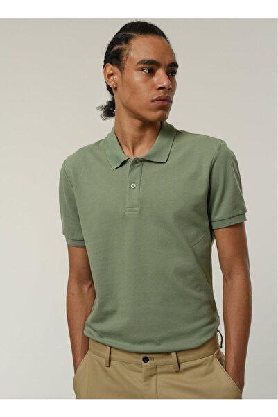 Fabrika Erkek Polo Yaka T- Shirt Açık Yeşil