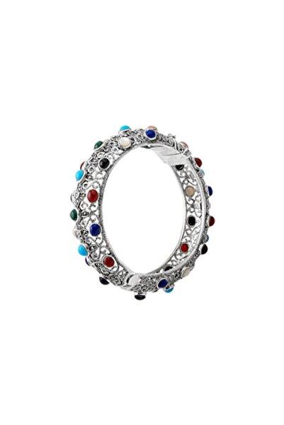 Silverella Kadın Gümüş 925 Ayar Markazit Taşlı Bilezik
