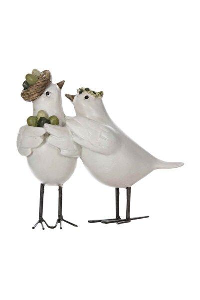 Vitale Lima Fısıldaşan Kuş Biblo 14x12 Cm Ak.gw0003