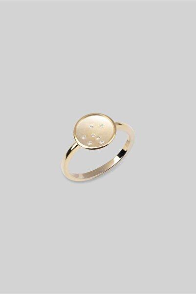 So CHIC... Italyan Stili 18 Ayar Sarı Altın Kaplama Gümüş Yüzük